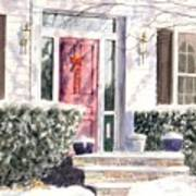 Winter Door Art Print