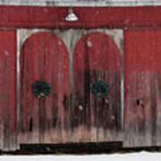 Winter Doors Art Print