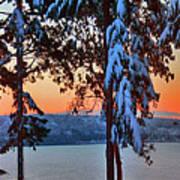 Winter Drama Sunrise Panorama Art Print