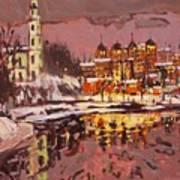 Winter Eve Art Print