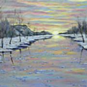 Winter Expression Sunrise Art Print