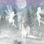 Winter Fairy Magic Art Print