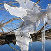 Winter Fairy Wings Art Print