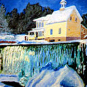 Winter Falls Art Print