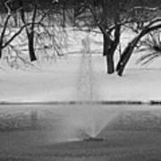 Winter Fountain Art Print