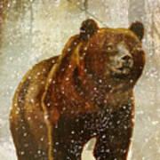 Winter Game Bear Art Print