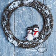 Winter Garland Art Print