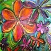 Winter Glow Flower Painting Art Print