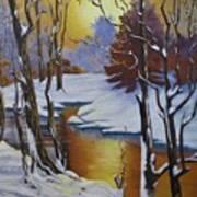Winter Gold Art Print