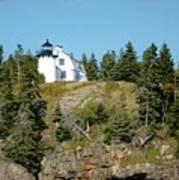 Winter Harbor Lighthouse Art Print