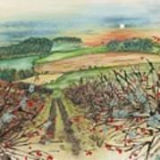 Winter Hedgerow Art Print