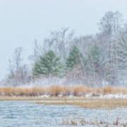 Winter Hoarfrost On The River Art Print