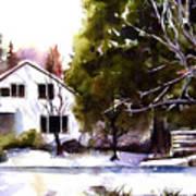 Winter Homestead Art Print