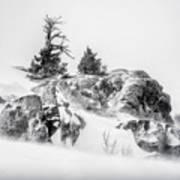 Winter Hwy 40 Art Print