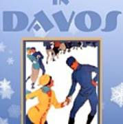 Winter In Davos Art Print