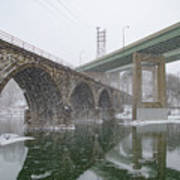 Winter In East Falls Along The Schuylkill River Art Print