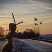 Winter In Holland-1 Art Print
