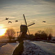 Winter In Holland-2 Art Print