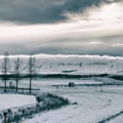 Winter In Iceland Art Print