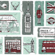 Winter In London Art Print