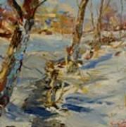 Winter In Mat Art Print
