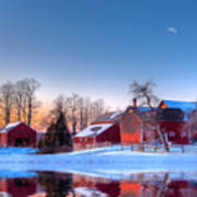 Winter In New England Art Print by Michael Petrizzo