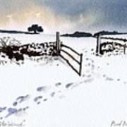Winter In Stainland Art Print
