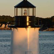 Winter Island Lighthouse At Sunset, Salem, Massachusetts Art Print