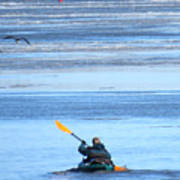 Winter Kayak Art Print