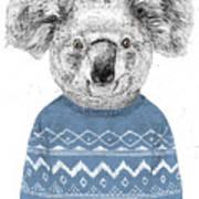 Winter Koala Art Print