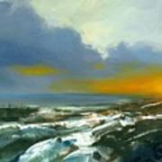 Winter Lake View Art Print