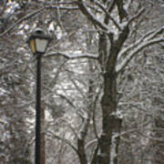 Winter Lamp Post Art Print