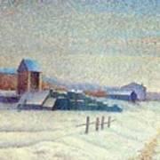 Winter Landscape 1885 Art Print
