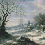 Winter Landscape Art Print by Daniel van Heil