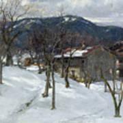 Winter Landscape Near Kutterling Art Print