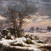 Winter Landscape. Near Vordingborg Art Print