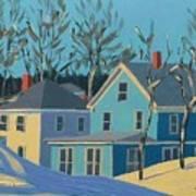 Winter Linden Street Art Print by Laurie Breton