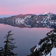 Winter Mirror At Crater Lake Art Print