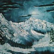 Winter Moon 2 Art Print