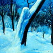 Winter Moonlight And Snow Art Print