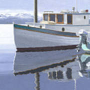 Winter Moorage Art Print