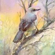 Winter Morning - Mockingbird Art Print