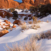 Winter Morning At Arches National Park Art Print