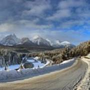 Morant's Curve On The Bow Valley Parkway Art Print