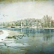 Winter on the Hudson No. 2 Art Print
