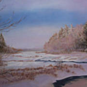 Winter On The Pond Art Print