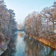 Winter On The River Art Print