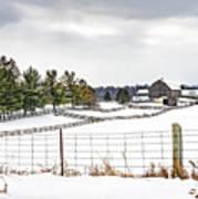 Winter Ontario Farm 3 Art Print