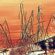 Winter Orange Art Print
