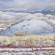 Winter Panorama From The River Mural Art Print